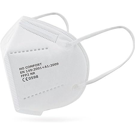 SALO MED 20 Mascherine FFP2 Bianche – Certificate CE 0598 – Confezionate Singolarmente – Mascherina 5 Strati – Protezione con filtraggio BFE 99% - Box 20 Pezzi