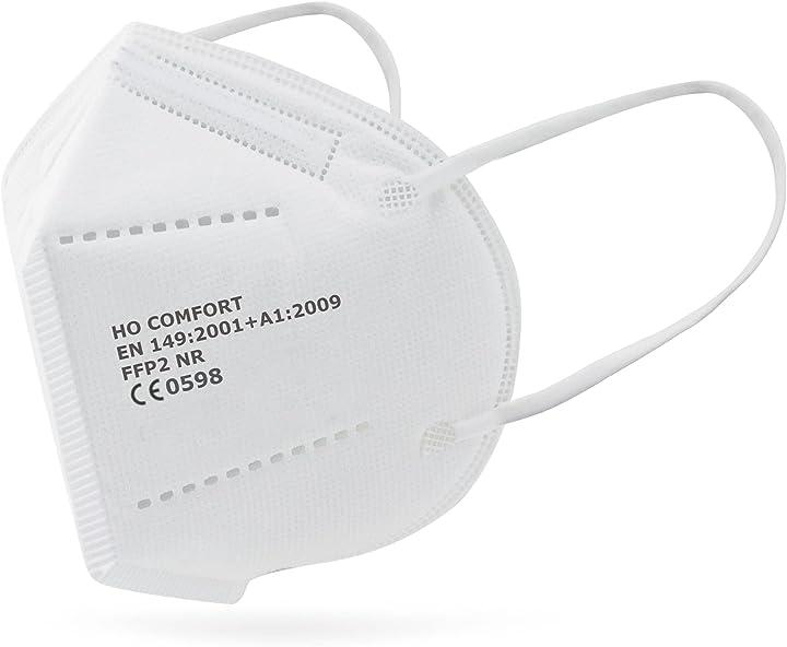 mascherine ffp2 bianche –certificate ce 0598 – confezionate singolarmente filtraggio bfe 99% 20 pezzi salo med b08wjhkfs1