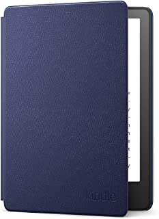 Étui en cuir pour Amazon Kindle Paperwhite   Compatible avec les appareils 11e génération (modèle 2021)   Bleu Marine
