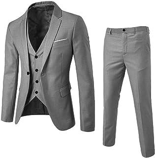 3-Piece Mens Charm Suit Blazer Jacket & Vest & Pants Formal Classic Business Jacket Suits Casual Luxury Vintage Retro Smar...