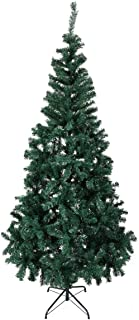 JAXSUNNY Artificial Christmas Tree with PVC Blades and Sturdy Base, Indoor Outdoor Decoration Green 7ft