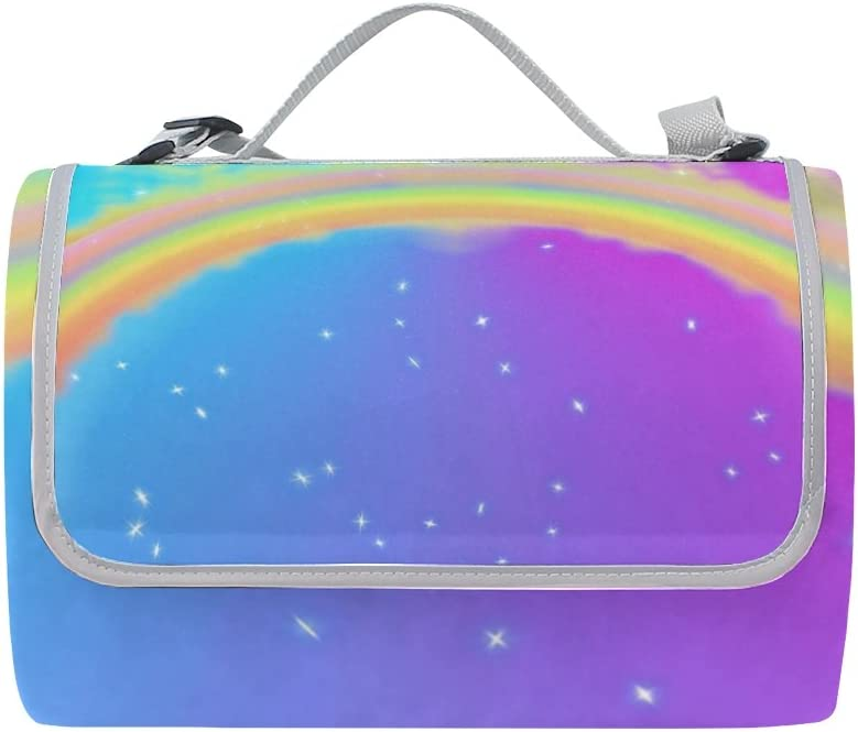 Florence Unique Rainbow Picnic Blanket Mat Foldable Outdoor Animer and price Challenge the lowest price revision Wate