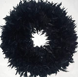 Halloween Wreaths ~ Black Feather Wreath XL ~ Gorgeous !