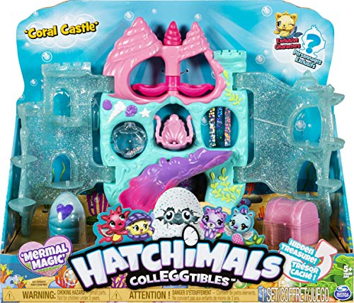 Hatchimals CollEGGtibles, Coral Castle Fold Open Playset with Exclusive Mermal Magic, for Kids Aged 5 and Up