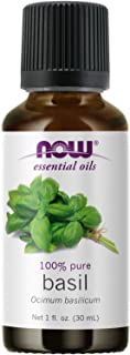 NOW Essential Oils, Basil Oil, Energizing Aromatherapy Scent, Stream Distilled, 100% Pure, Vegan, Child Resistant Cap, 1-O...