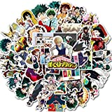 My Hero PVC Waterproof Stickers for Laptop, Notebooks, Car, Bicycle, Skateboards, Luggage Decoration 50PCS