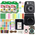 Fujifilm Instax Mini 11 Instant Camera with Case, 60 Fuji Films, Decoration Stickers, Frames, Photo Album and More Accessory kit (Charcoal Grey)