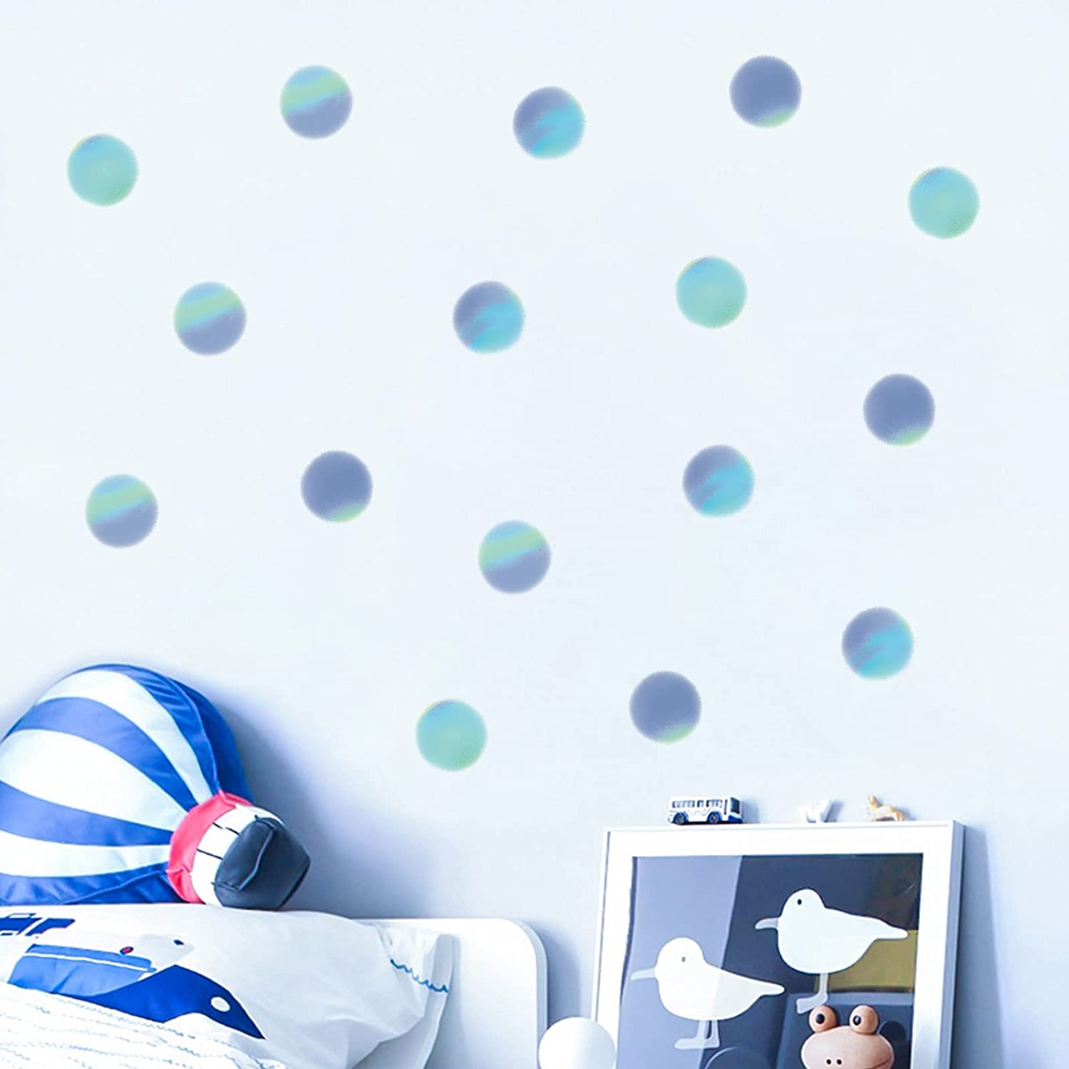 ROFARSO 120 Ranking integrated 1st place Decals 2'' Hazy Gradient Color Dots Polka 2021 new Decal Wall
