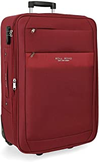 Roll Road Carter Red Medium Suitcase 43 x 66 x 26 cm Soft Polyester Combination lock 67 Litre 3 kg 2 Wheels