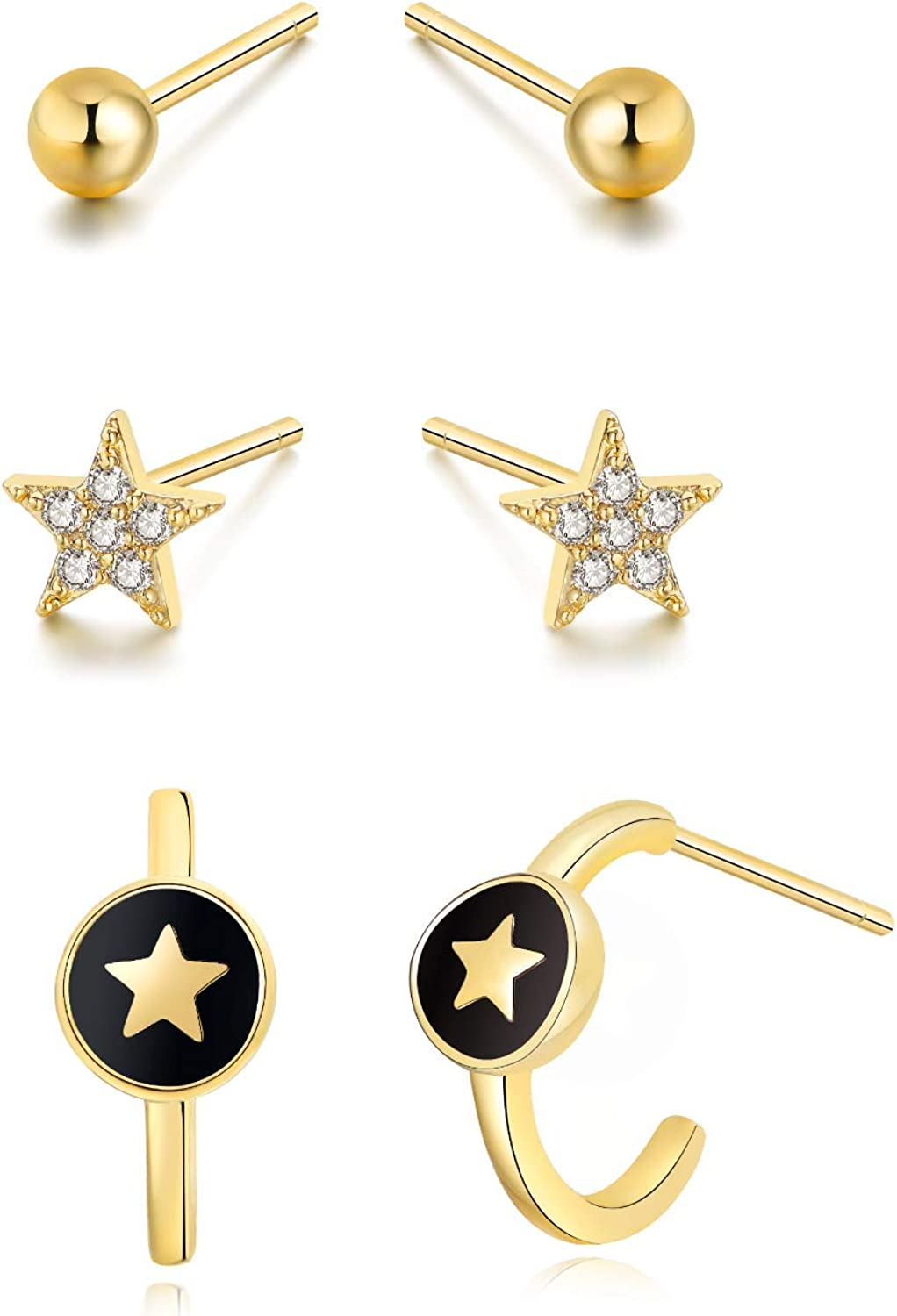 """""""Galaxy Star"""" 14k Gold Plated Sterling Direct sale of manufacturer 4 years warranty Zi Cubic Silver"""