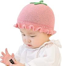 Baby Newborn Organic Knitted Hat 🎅 Lovely Little Tomato Ruffle Boy Girl Warm Casual Crochet Beanie Cap