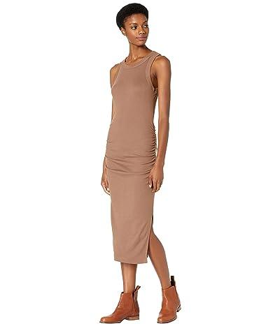 Michael Stars Wren Ultra Rib Midi Dress with Slit
