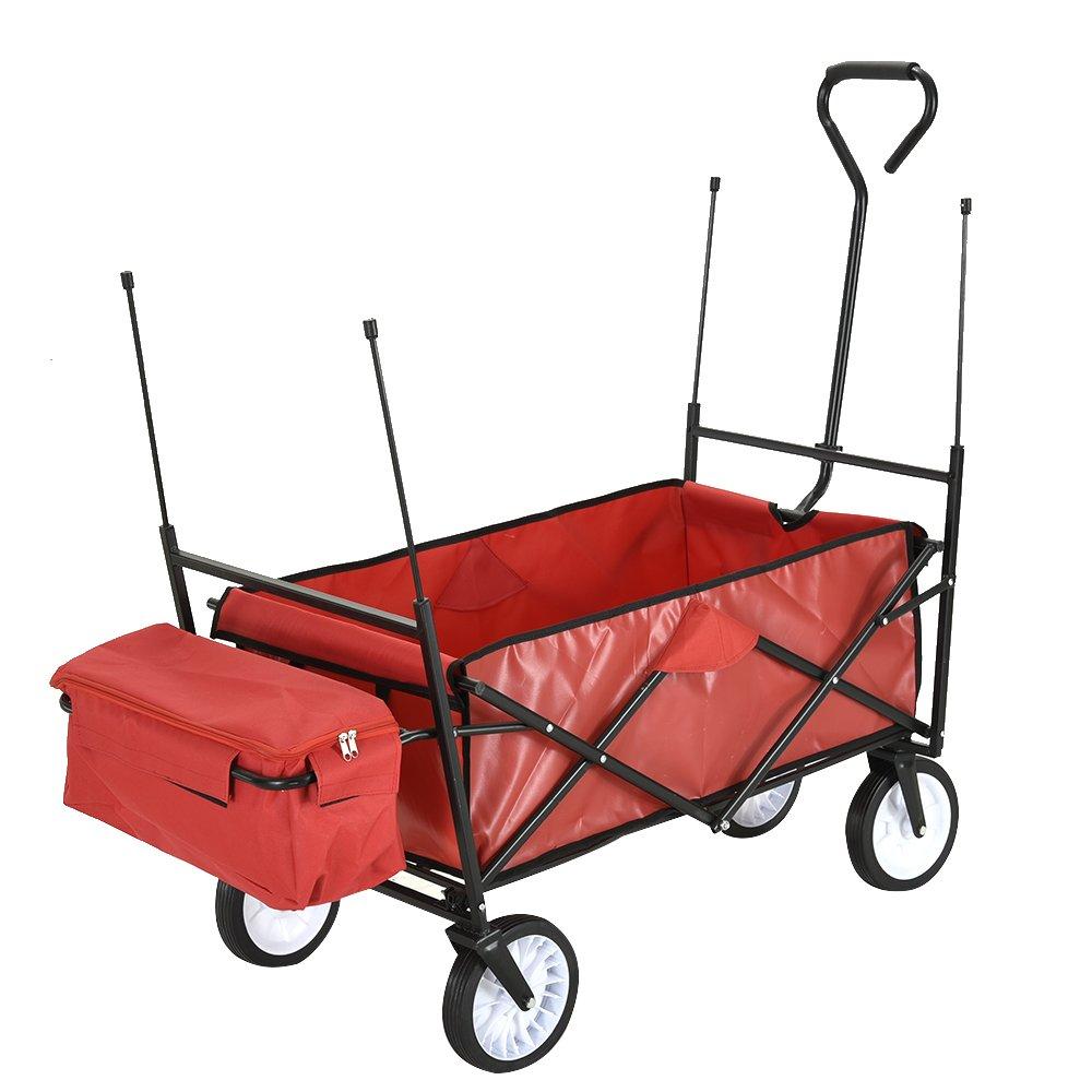 Keinode Carro de jardín Resistente, Grande, con 4 Ruedas, de Metal, para Transporte de remolques, Carretilla de Mano, Carretilla de 350 kg de Transporte en el Aire Libre: Amazon.es: Jardín