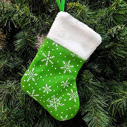 Kerstversiering 6 STKS/LOT 2019 nieuwe kerstdecoratie items Kerstmis snoepzakken gift bags trompet Sneeuwvlok Kerst kousen merk: TONWIN