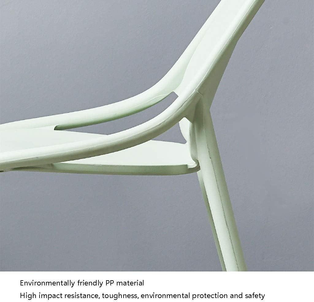 Chaise en Plastique Minimaliste Moderne Retour À La Maison À Manger Restaurant Bureau Chambre (Couleur : Blanc) Rose