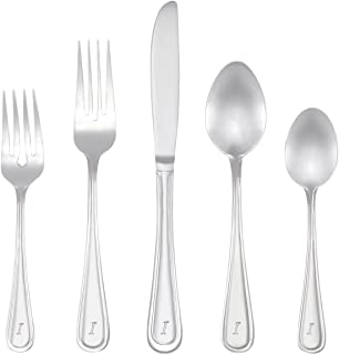 RiverRidge 46-Pc. Monogrammed Flatware, Service for 8, Marina Pattern - I