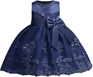 Baby Girls Birthday Dress Formal Wedding Party Flower Dress for Toddler