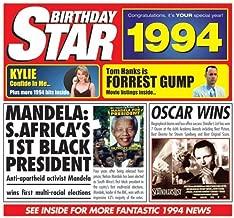1994 Birthday Gift - 1994 Chart Hits Cd and 1994 Greetings Card