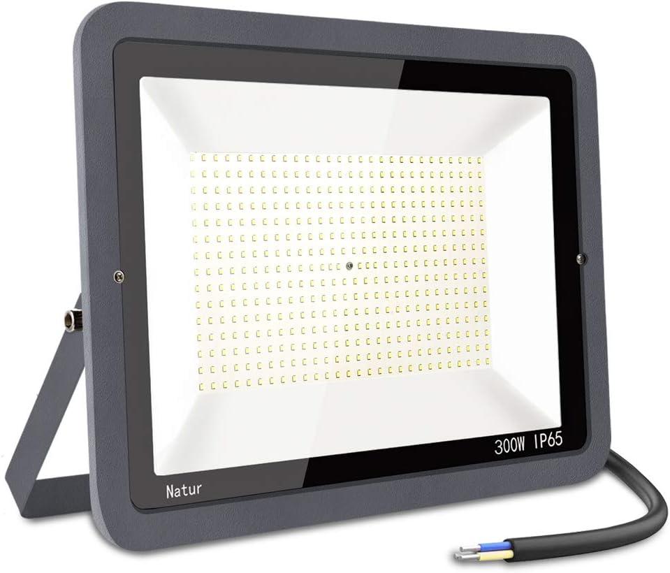 300W LED Foco Exterior,bapro 6000k Alto Brillo Proyector Led,Impermeable IP65 Floodlight Led Iluminación para Patio, Camino, Jardín, Almacén (Blanco frío,300W)[Clase de Eficiencia Energética A++]