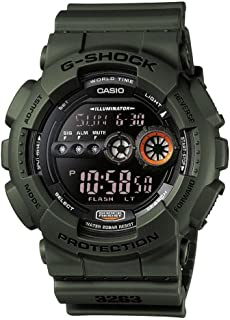 Casio Unisex Watch in Military Green Resin with LCD Display and Auto LED Light - Shock and Water Resistant