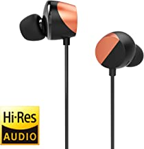 TUNAI Drum Hi-Resolution Audiophile in-Ear Earbud Headphones – Powerful Bass and Lively Sound Stage with Improved Noise Isolation; Comfortable for Workout, Running and Great for Gaming (Shine Orange)
