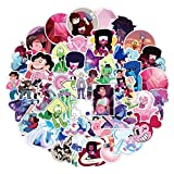 Meet Holiday Steven Universe Sticker 50 PCS PVC Waterproof Stickers for Laptop, Notebooks, Car, Bicycle, Skateboards, Luggage Decoration (Steven Universe)