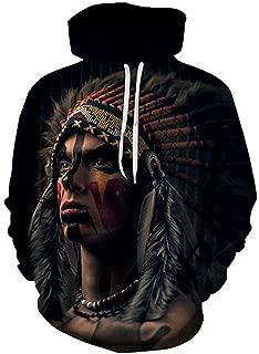 Native American Printed Hoodies Men Sweatshirts 3D Hoody intage Tracksuits Harajuku Coat Fashion Pullover Autumn
