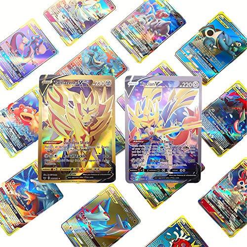 cheap4uk 120 Cartas de Pokémon Diferentes Cartas GX Cartas de Entrenador Cartas de Juegos de colección de Pokémon Pokemon Regalo de cumpleaños Regalo de año Nuevo Juguetes para niños