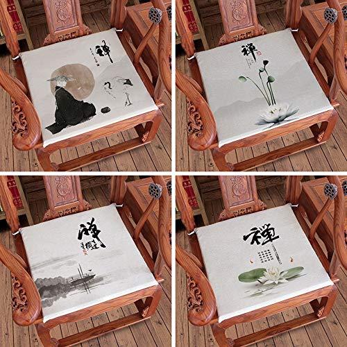 Pads chinos Estilo Zen amortiguador de la silla, cojín amortiguador del asiento, cojín de la silla de comedor, cojines en el suelo, caoba Sofá estera de asiento for Modern granja decoración de Navidad