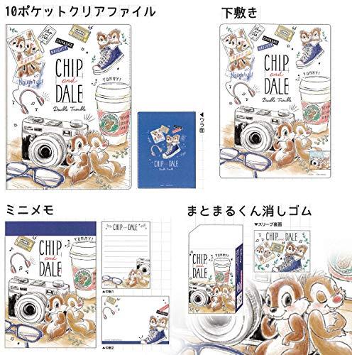 チップ&デール ステーショナリー4点セット(カメラ)50779 文具セット