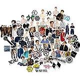 Chutoral Kpop EXO Aufkleber, wasserdicht, abnehmbar, Graffiti-Aufkleber, Vinyl, kein Duplikat, für Auto, Gepäck, Computer, Heimdekoration, 65 Stück