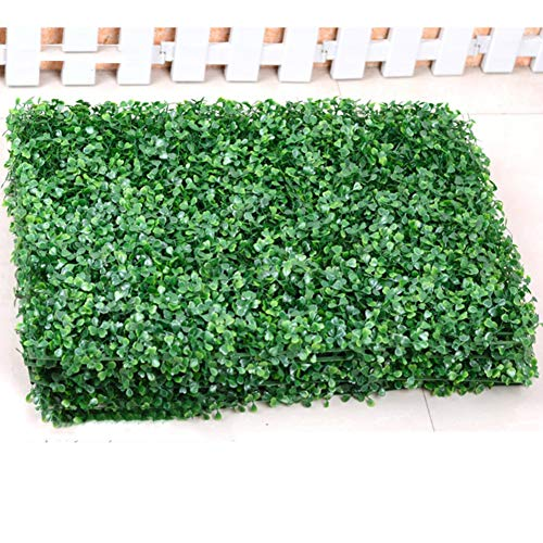 Herbe Artificielle De Haie,Plante Hang Grass Flower Leaf Hedge Privacy Hedge Fence Screening Outdoor Wall Decor Garden-a 40x60cm(15.7x23.6inch)