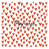 Marianne Design Diseño Y Carpeta De Embossing Corazones De Moda, plastico, 170X210
