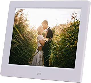 FEE-ZC Digital Photo Frame 8 Inch MP4 Video Input Digital Photo Frame with Memory LED Smart Slideshow E-Albums MP3/MP4 Vid...
