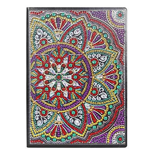 DIY Diamond Painting Girls Sketchbook A5 Office Craft Mandala 50 páginas A5 Cuaderno para padres e hijos Mandala Diario creativo Bloc de notas Regalo del día de los niños