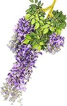 Garneck 12 peças de glicínia artificial para pendurar, flores de arbusto, guirlanda de videira de glicínia para decoração ...