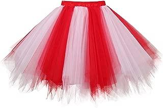 Topdress Women's 1950s Vintage Tutu Petticoat Ballet Bubble Skirt (26 Colors)