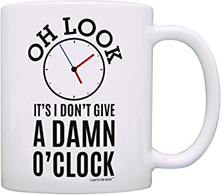 Retirement Gifts for Coworkers Oh Look Clock Expletive Retired Gag Gift Coffee Mug Tea Cup White