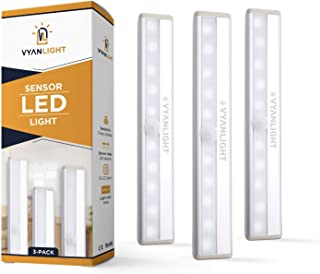 LED Closet Light Motion Activated, Under Cabinet Lights, Homelife Motion Sensor LED Lights, Stick-on Anywhere Battery Oper...