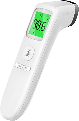 Touchless Thermometer, Forehead Thermometer with Fever Alarm and Memory Function, Ideal for Babies, Infants, Children...