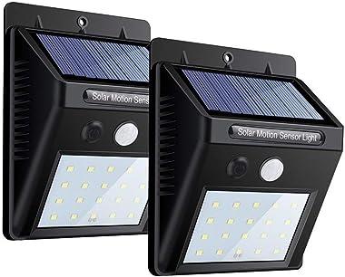 Evaluemart® Motion Sensor 20 LED Solar Light, Outdoor Weatherproof for Driveway Garden Path Yard- Pack of 2