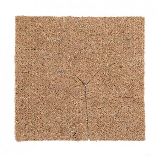 La cordeline Lot De 2 Carrés De Paillage en Feutre De Jute 1000 grs/m² 52.5 X 52.5cm S/Cavalier, Naturel, 52,5 x 1 x 52,5 cm