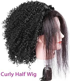 gray half wig