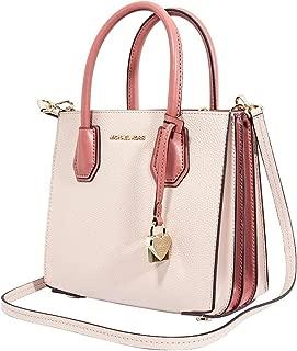 Michael Kors Mercer Accordion Messenger Medium - Soft Pink/Multi