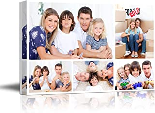 SIGNFORD Custom Canvas Prints, Family Personalized Poster Wall Art with Your Photos Wood Frame Digitally Printed - 32
