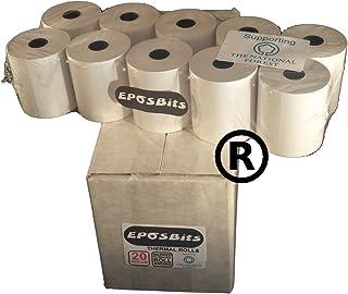 eposbits® marca rollos para que se ajuste a Casio pequeño dibujar TE-M80, TEM80te m80TEM-80, TM80–80TM-80caja registradora–20rollos