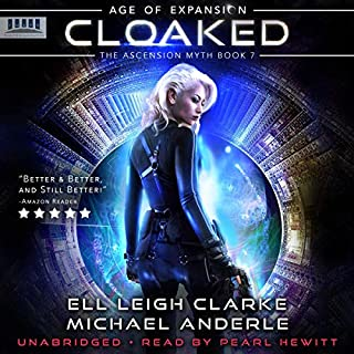 Cloaked     Age of Expansion - A Kurtherian Gambit Series, The Ascension Myth, Book 7              By:                                                                                                                                 Ell Leigh Clarke,                                                                                        Michael Anderle                               Narrated by:                                                                                                                                 Pearl Hewitt                      Length: 7 hrs and 47 mins     1 rating     Overall 5.0