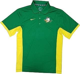 Nike Men's Oregon Ducks Elite Coaches Sideline Dri-FIT Polo T-Shirt Apple Green/Yellow