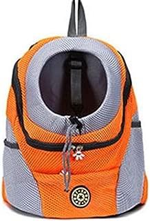 Outdoor Pet Dog Carrier Bag Pet Dog Front Bag New Out Double Shoulder Portable Travel Backpack Mesh Backpack Head (Color : Gold, Size : 5500g or Less)