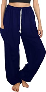 LOFBAZ Harem Pants for Women S-4XL Plus Yoga Boho Hippie Beach Travel Lounge PJs